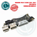 "APPLE MACBOOK PRO RETINA A1398 15"" 2013 2014 SCHEDA BOARD USB HDMI MEDIA 820-3547-A"