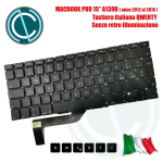 "APPLE MACBOOK PRO 15"" A1398 RETINA 2012 2013 2014 2015 KEYBOARD TASTIERA UNIBODY ITALIANA QWERTY"